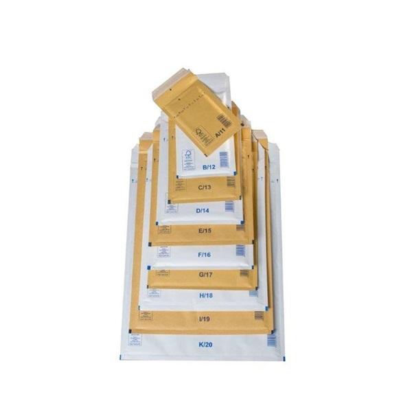 140x225mm barna légpárnás boríték W2 - 1
