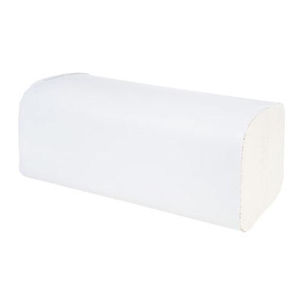 150lap/csomag 2 rétegű V hajtogatású fehér kéztörlő - 1