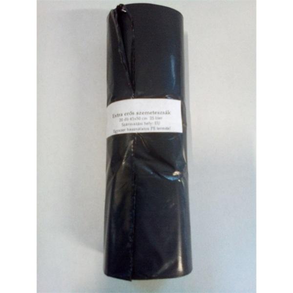 25l fekete 10my 45x50cm 20db/csomag háztartási szemeteszsák - 2