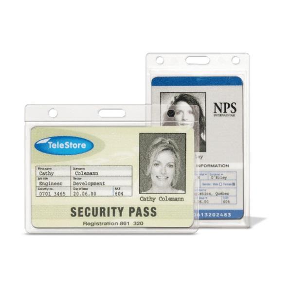 3L 91x68mm fekvő biztonsági 10db ID kártyatartó tok - 1