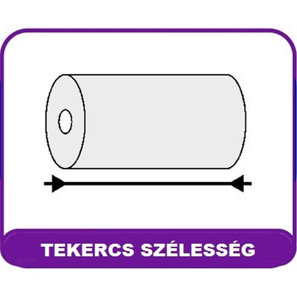 57/30/12 9fm BPA mentes nyomott 10db hőpapír tekercs - 2