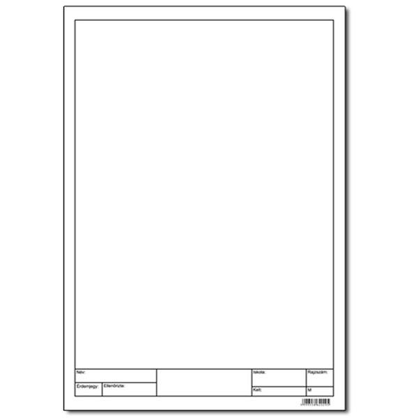 A4 keretezett 10db-os rajzlap - 1