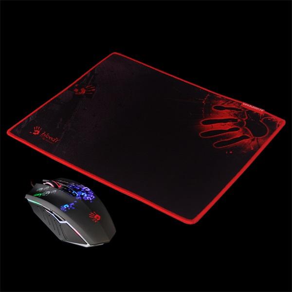 A4-Tech Bloody A60 fekete gamer egér + egérpad - 1