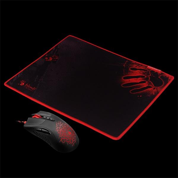 A4-Tech Bloody A90 fekete gamer egér + egérpad - 1