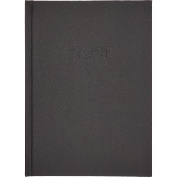 A5 2021-es napi beosztású fekete határidőnapló - 1