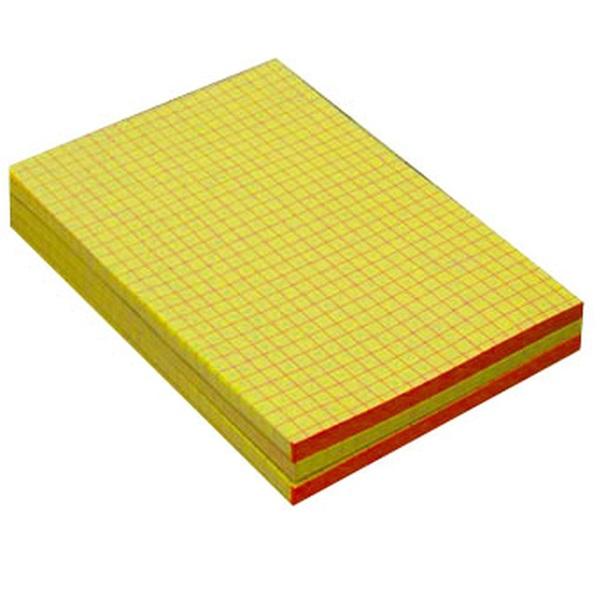 A5 kockás ragasztott sárga jegyzettömb - 1