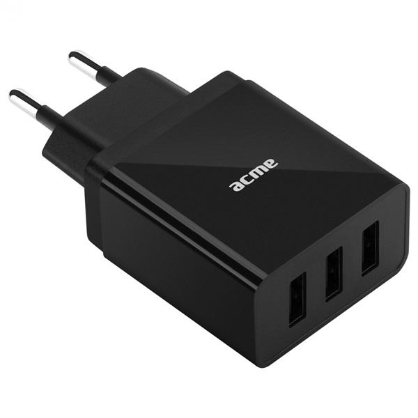 ACME CH206 3.4A univerzális 3x USB hálózati töltő - 1