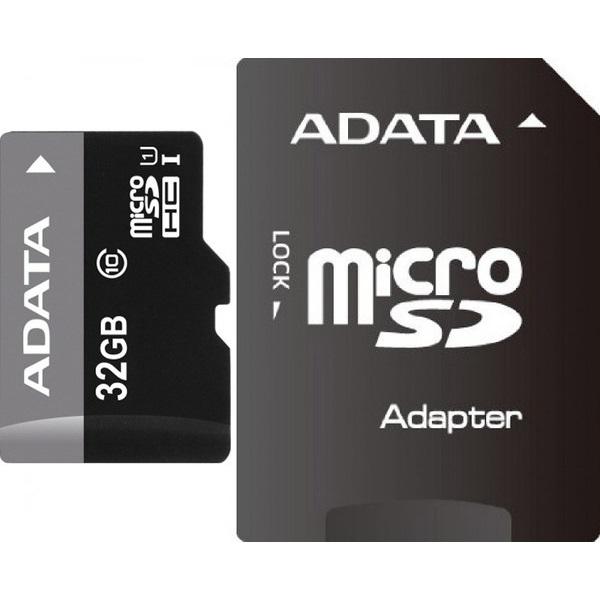 ADATA 32GB SD micro (SDHC Class 10) (AUSDH32GUICL10-RA1) memória kártya adapterrel - 1