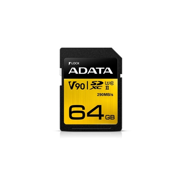 ADATA 64GB SD Premier ONE (SDXC Class 10 UHS-II U3) (ASDX64GUII3CL10-C) memória kártya - 1