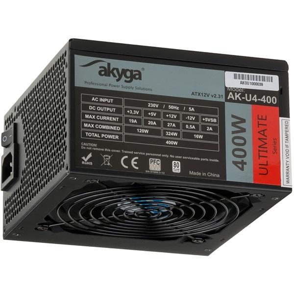 Akyga Ak-U4-400 400W 80+ Bronze ATX tápegység - 1