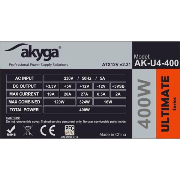 Akyga Ak-U4-400 400W 80+ Bronze ATX tápegység - 5