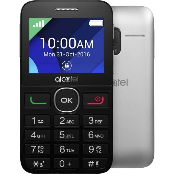 Alcatel 2008G 2,4 fekete-ezüst mobiltelefon - 1