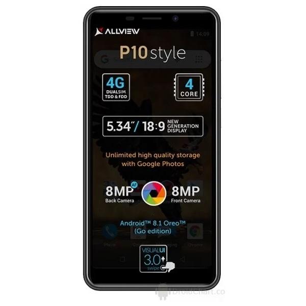 Allview P10 Style 5,34 LTE 8GB Dual SIM fekete okostelefon - 1