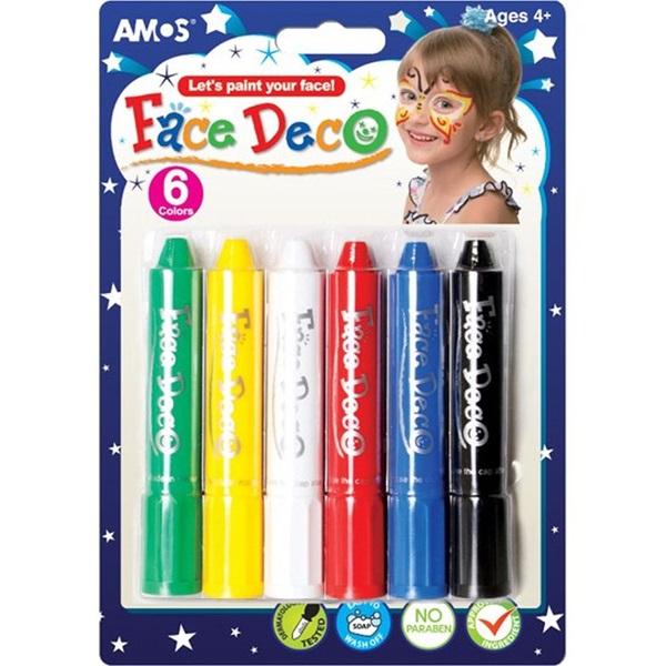 Amos 6 színű arcfesték készlet - 1