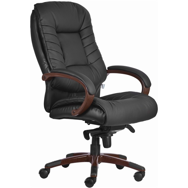 Antares Buffalo PU-textilbőr fekete főnöki fotel - 1