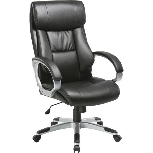 Antares Diamond II PU-textilbőr fekete főnöki fotel - 1