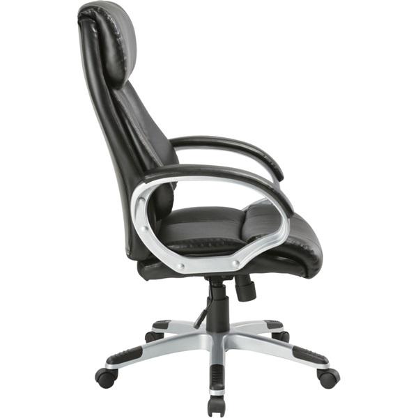 Antares Diamond II PU-textilbőr fekete főnöki fotel - 2