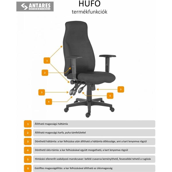 Antares Hero MS.11 fekete irodai munkaszék - 4