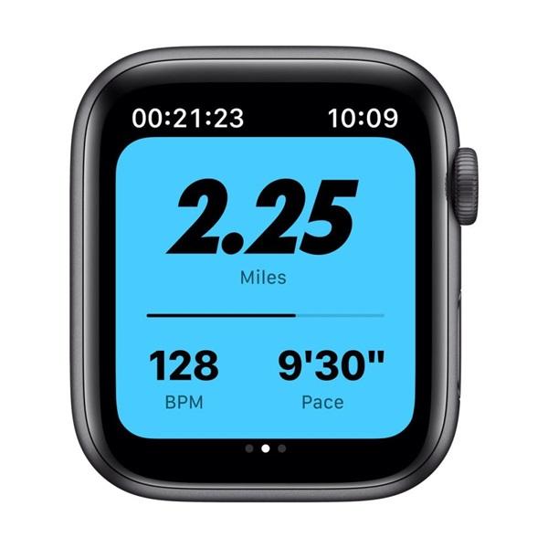 Apple Watch Nike Series 6 GPS-es 44mm asztroszürke alumíniumtok antracit/fekete Nike sportszíjas okosóra - 3