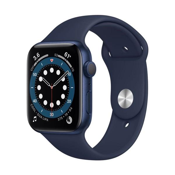 Apple Watch Series 6 GPS-es 44mm kék alumíniumtok tengerészkék sportszíjas okosóra - 1