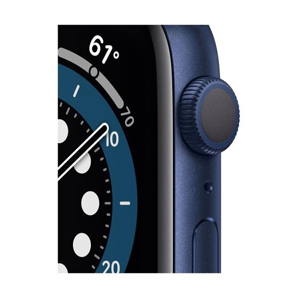 Apple Watch Series 6 GPS-es 44mm kék alumíniumtok tengerészkék sportszíjas okosóra - 2