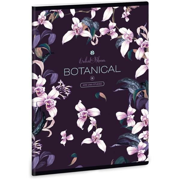 Ars Una Botanic Orchid A5 extra kapcsos sima füzet - 1