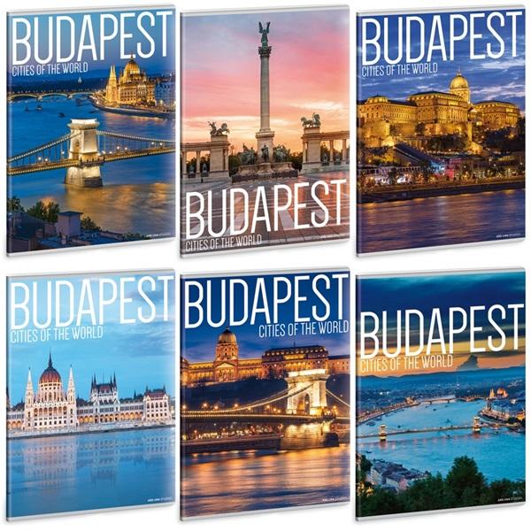 Ars Una Budapest A4 extra kapcsos vonalas füzet - 1