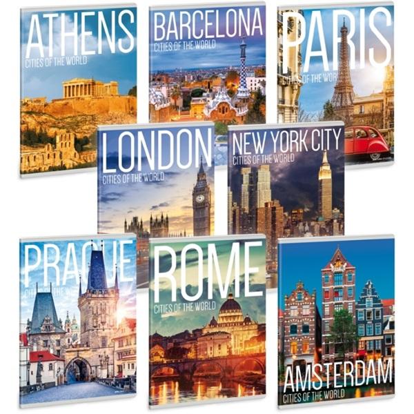 Ars Una Cities Of The World A5 extra kapcsos vonalas füzet - 1