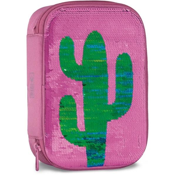 Ars Una Desert kaktusz többszintes flitteres tolltartó - 1