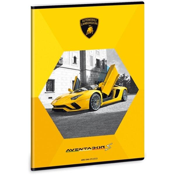 Ars Una Lamborghini A4 extra kapcsos sima sárga füzet - 1