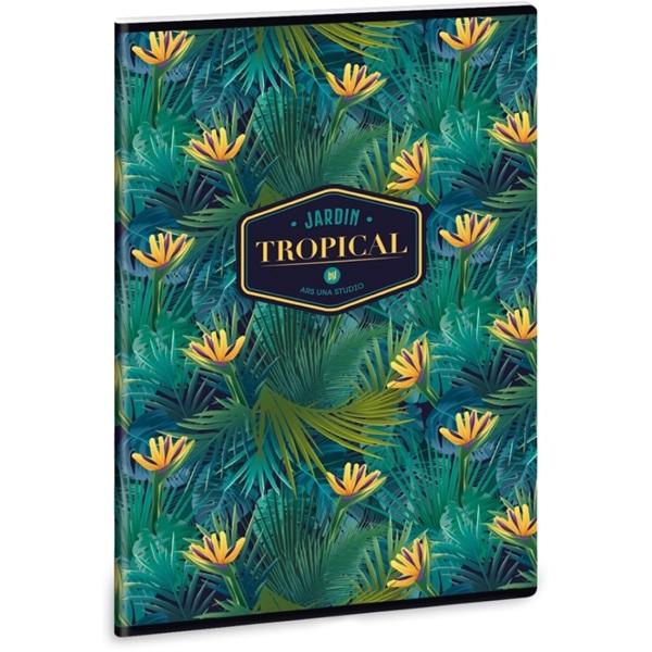 Ars Una Tropical Florida A4 extra kapcsos kockás füzet - 1