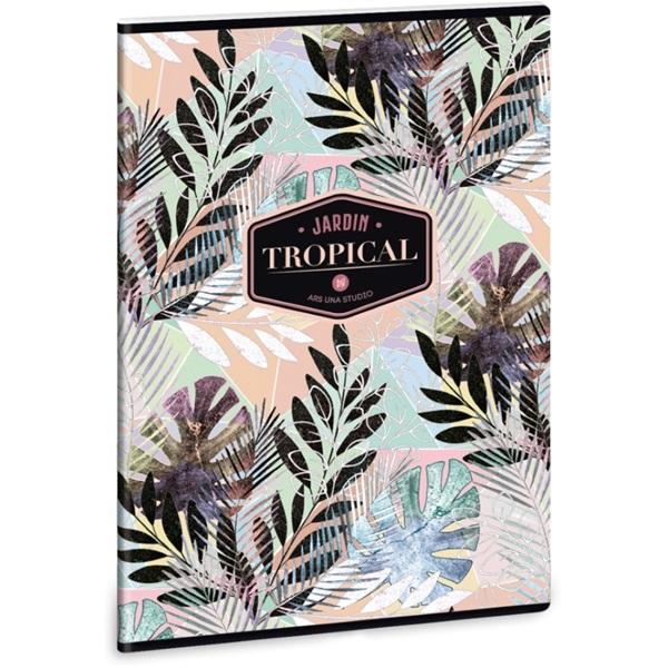 Ars Una Tropical Leaf A4 extra kapcsos sima füzet - 1