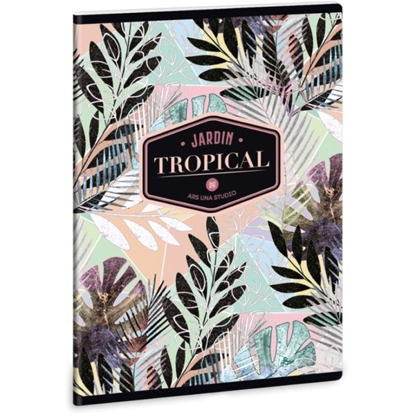 Ars Una Tropical Leaf A5 extra kapcsos kockás füzet - 1