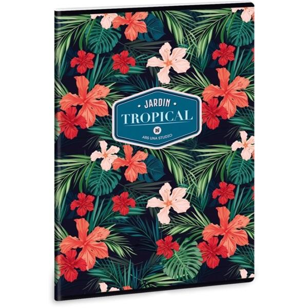 Ars Una Tropical Wildblume A4 extra kapcsos sima füzet - 1