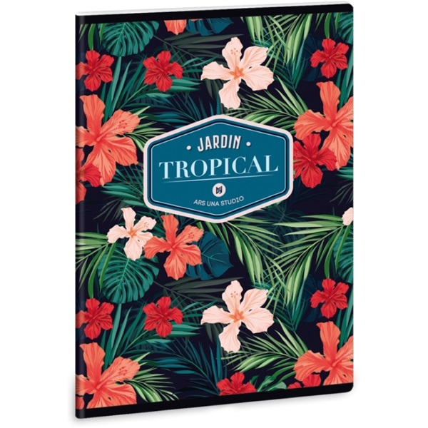 Ars Una Tropical Wildblume A5 extra kapcsos vonalas füzet - 1