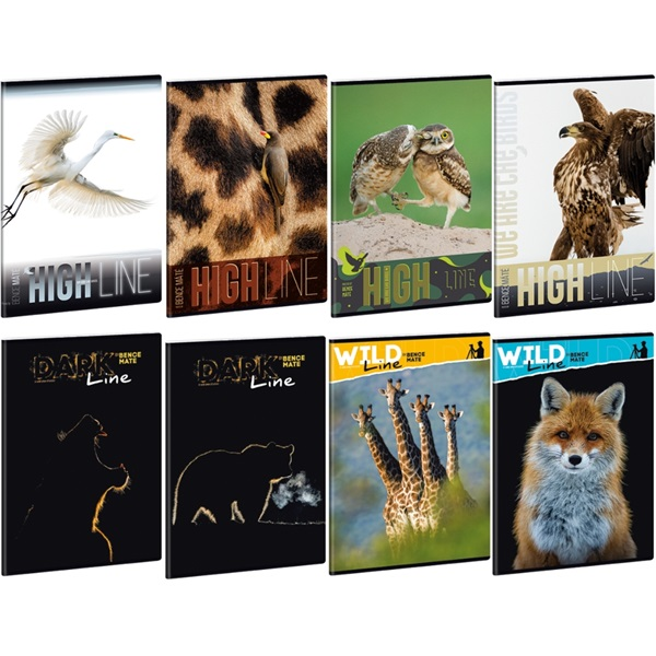 Ars Una Wild Life Moments A5 extra kapcsos vonalas füzet - 1