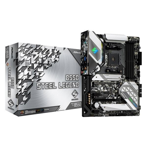 ASRock B550 STEEL LEGEND AMD B550 SocketAM4 ATX alaplap - 1