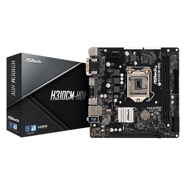 ASRock H310CM-HDV Intel H310 LGA1151 mATX alaplap - 1