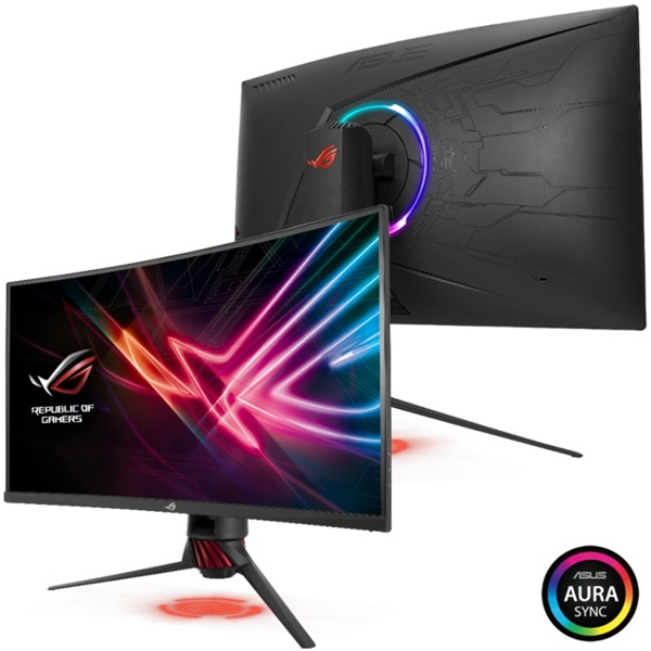 Asus 31,5 ROG STRIX XG32VQ WQHD LED 144Hz HDMI/DP FreeSync ívelt e-sport gamer monitor - 3