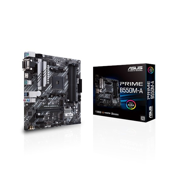 ASUS PRIME B550M-A AMD B550 SocketAM4 mATX alaplap - 1