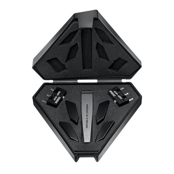 ASUS ROG Pugio II vezeték nélküli fekete gamer egér - 5