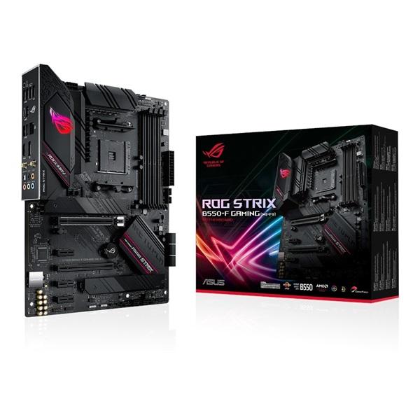 ASUS ROG STRIX B550-F GAMING (WI-FI) AMD B550 SocketAM4 ATX alaplap - 1