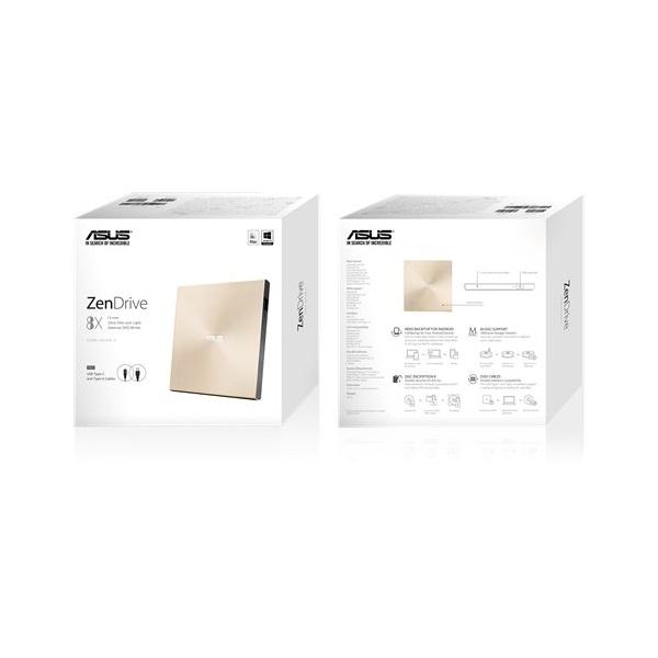 ASUS SDRW-08U9M-U/GOLD/G/AS USB arany DVD író - 6
