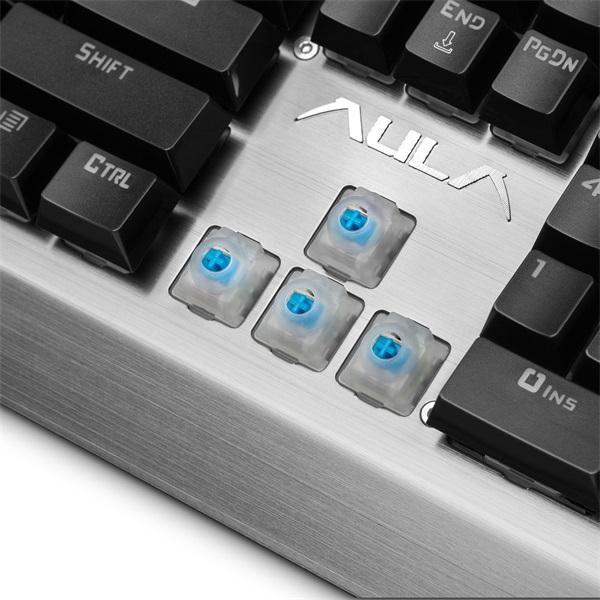 Aula Assault HUN fém világító mechanikus gamer billentyűzet - 10