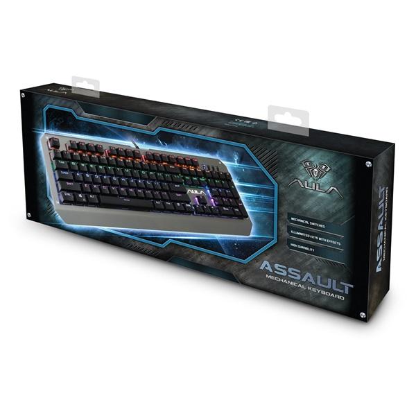 Aula Assault HUN fém világító mechanikus gamer billentyűzet - 12