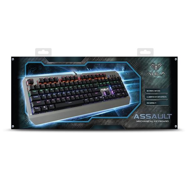 Aula Assault HUN fém világító mechanikus gamer billentyűzet - 13