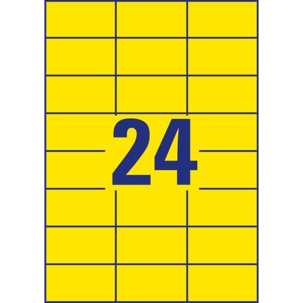 Avery 3451-10 70x37mm 240db-os sárga univerzális etikett - 3
