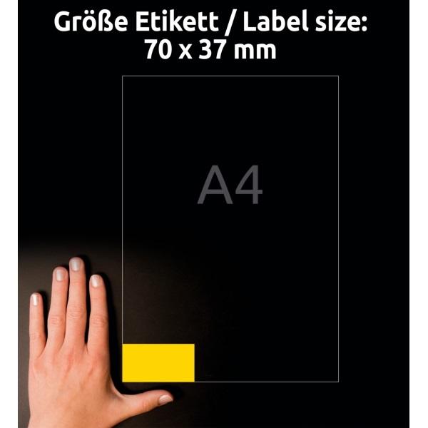 Avery 3451-10 70x37mm 240db-os sárga univerzális etikett - 5