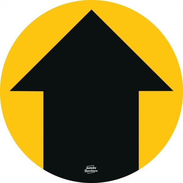 Avery 49415 20cm sárga 12db-os 5 féle koronavírus információs címke szett - 5