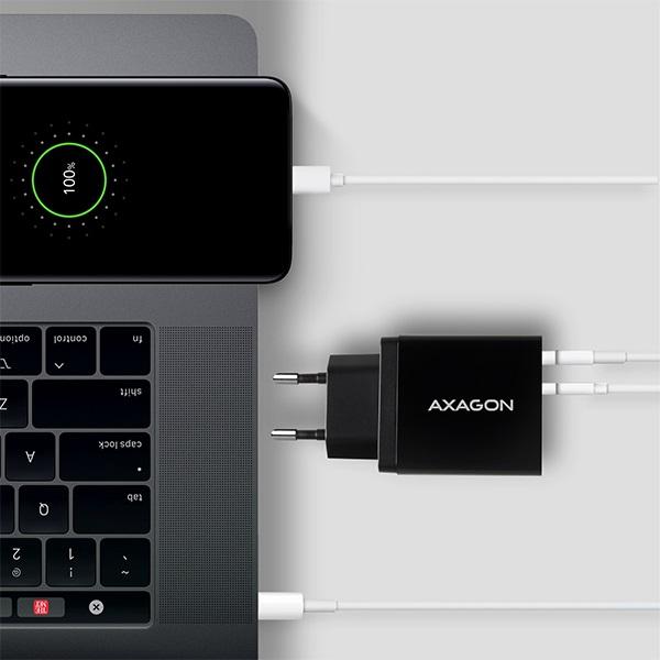 Axagon ACU-PQ22 QC3.0 + USB-C fekete fali töltő - 6